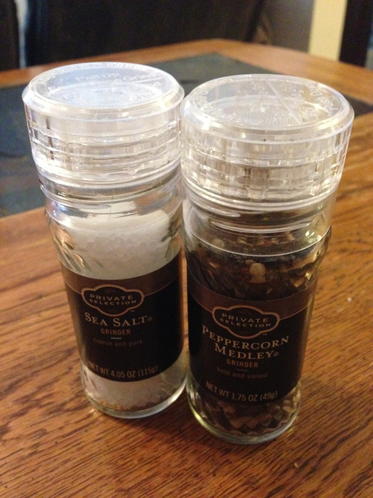Salt and Pepper with grinder included