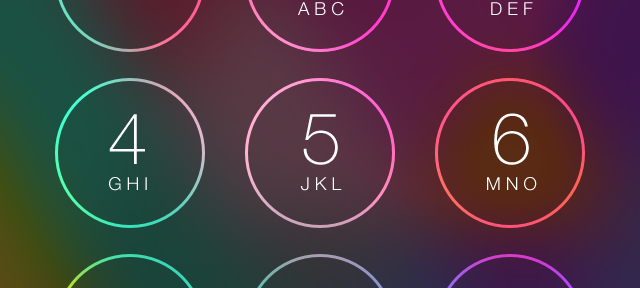 Unlock screen in iOS 7.